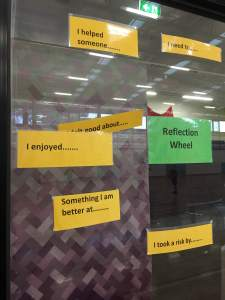 The 'Reflections Wheel' I saw at my boys basketball practice